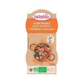 BABYBIO Bols aubergines façon moussaka et agneau français 2x200g