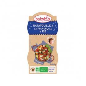 BABYBIO Bols ratatouille provençale & riz 2x200g