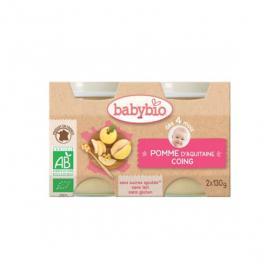BABYBIO Petits pots pomme d'Aquitaine & coing 2x130g
