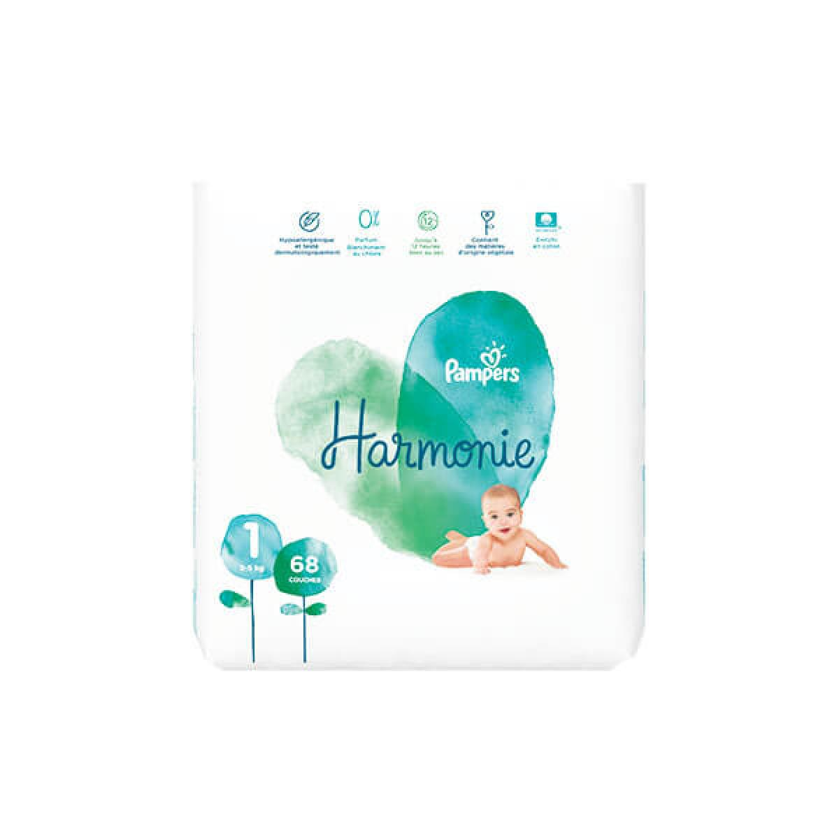 Pampers Harmonie Taille/1 68/Couches 2-5/kg