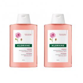 KLORANE Pivoine shampooing apaisant lot 2x400ml