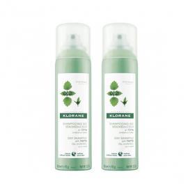 KLORANE Shampooing sec à l'ortie séboréducteur cheveux gras lot 2x150ml