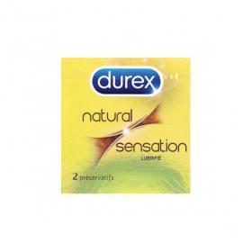 DUREX Natural sensation lubrifié 2 préservatifs