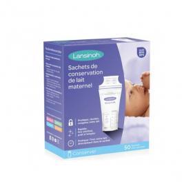 LANSINOH 50 sachets de conservation de lait maternel