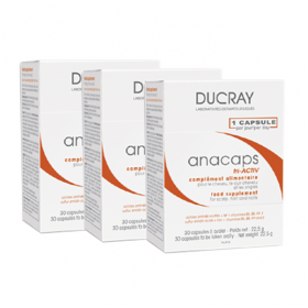 DUCRAY Anacaps tri-activ lot 3x30 capsules