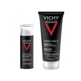 VICHY Homme hydra mag C+ soin hydratant anti-fatigue 50ml + gel douche corps et cheveux 100ml offert