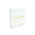 EVOLUPHARM Pharmaplus compresses gaze stérile 7,5x7,5cm