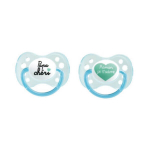 DODIE 2 sucettes anatomiques silicone 0-6 mois n°31