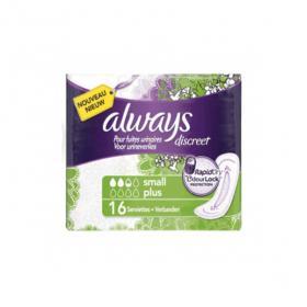 ALWAYS Discreet small plus 16 serviettes hygiéniques