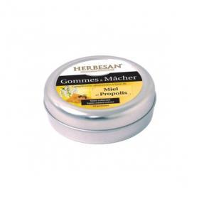 HERBESAN Gommes à mâcher miel et propolis 45g