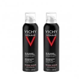 VICHY Homme gel de rasage anti-irritations lot 2x150ml