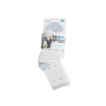 AIRPLUS Aloe cabin chaussettes hydratantes blanches motifs gris