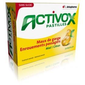 Activox pastilles miel citron 24 pastilles