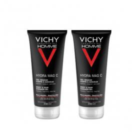 VICHY Homme gel douche hydratant mag-c lot 2x200ml