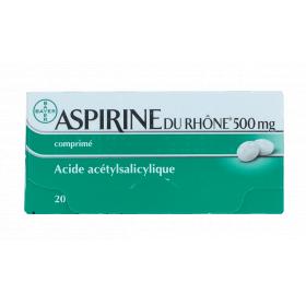 BAYER Aspirine du rhône 500mg 20 comprimés