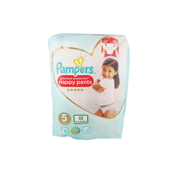 pampers pampers premium protection nappy pants 17 couches. Black Bedroom Furniture Sets. Home Design Ideas