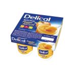 DELICAL Dessert aux fruits nutra'pote pomme abricot 4x200g