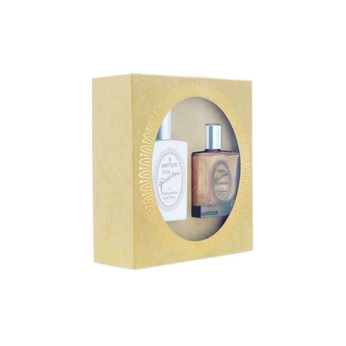 T.LECLERC Coffret Théophile Leclerc parfum d'été poudré 50ml + huile poudrée scintillante 50ml Parapharmacie Pharmarket