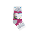 AIRPLUS Aloe cabin chaussettes hydratantes kids couleur fuchsia ours blancs 1 paire