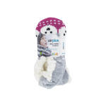 AIRPLUS Aloe cabin footie chaussons hydratants oursons roses taille 28-36