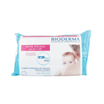 BIODERMA ABCDerm H2O lingettes nettoyantes ultra-douceur lot 2x60