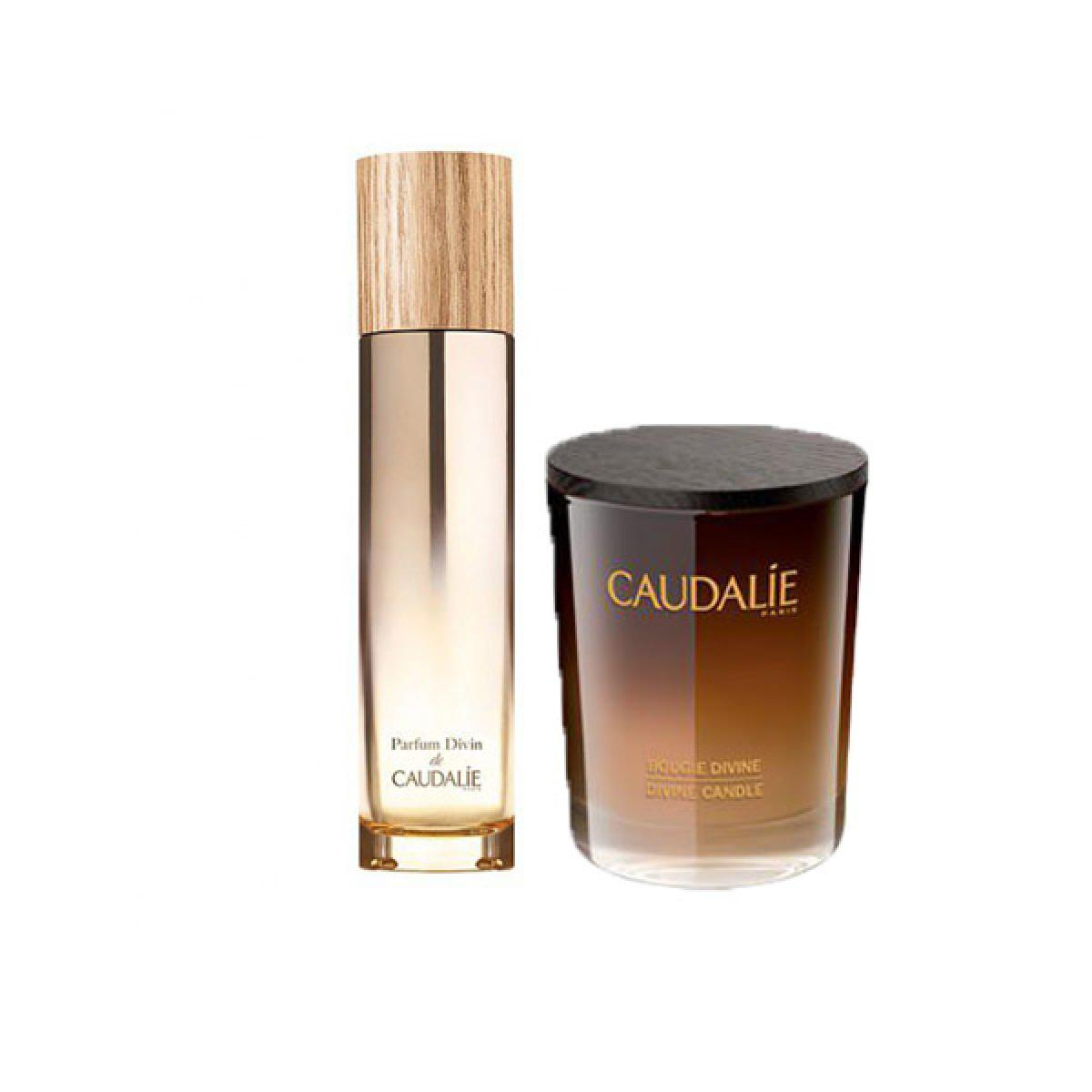 caudalie coffret cadeau divin parfum bougie parapharmacie pharmarket. Black Bedroom Furniture Sets. Home Design Ideas
