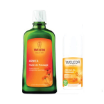 WELEDA Huile de massage à l'arnica 200ml + déodorant argousier roll-on 24h 50ml offert