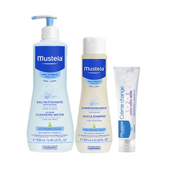 mustela coffret cadeau bebe les essentiels parapharmacie pharmarket. Black Bedroom Furniture Sets. Home Design Ideas