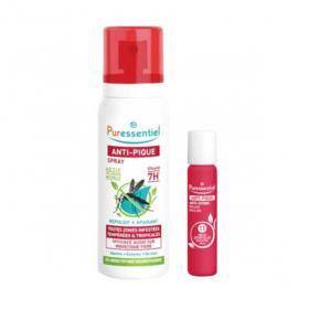PURESSENTIEL Anti-pique spray répulsif 7h apaisant 75ml + roller multi-apaisant 5ml