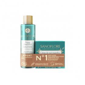 SANOFLORE Crème de nuit magnifica bio 50ml + essence botanique perfectrice de peau 50ml