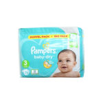 PAMPERS Baby-dry 76 couches-culottes taille 3 (6-10 kg)