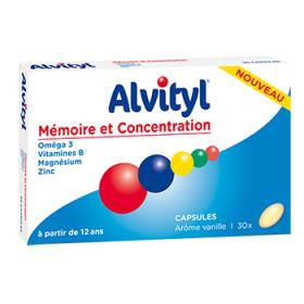 Mémoire et concentration 30 capsules