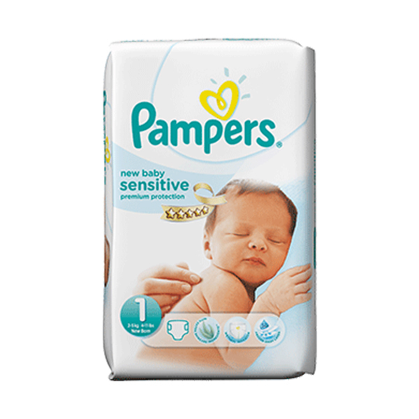 pampers new baby sensitive taille 1 21 couches. Black Bedroom Furniture Sets. Home Design Ideas
