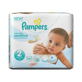PAMPERS New baby sensitive taille 2 - 27 couches