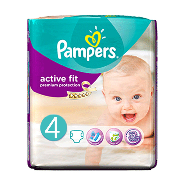 pampers active fit taille 4 24 couches parapharmacie pharmarket. Black Bedroom Furniture Sets. Home Design Ideas