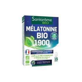 SANTAROME Mélatonine bio 1900 15 comprimés