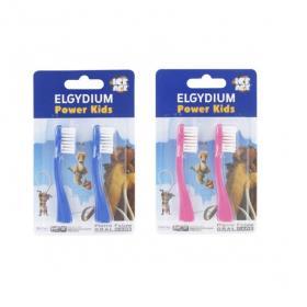 ELGYDIUM Power kids 2 têtes pour brosse à dents électrique rose ou bleu