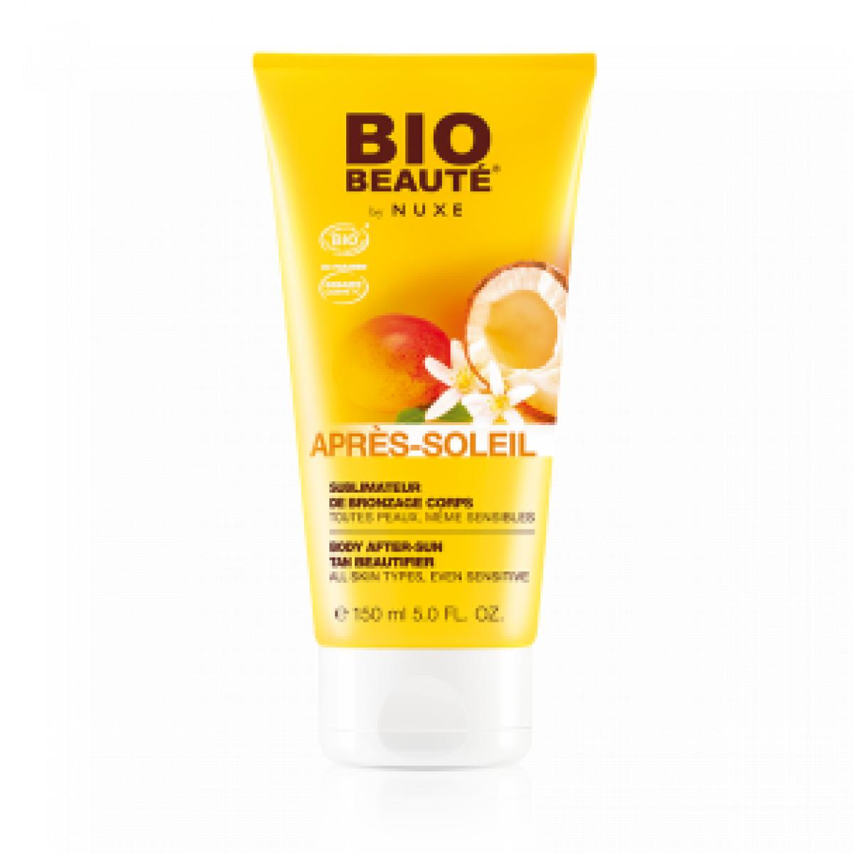 Bio beaute by nuxe apr s soleil sublimateur de bronzage corps 150ml sur pharmarket - Bepanthen coup de soleil ...