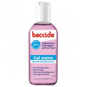 BACCIDE Gel mains antibactérien rose 75ml