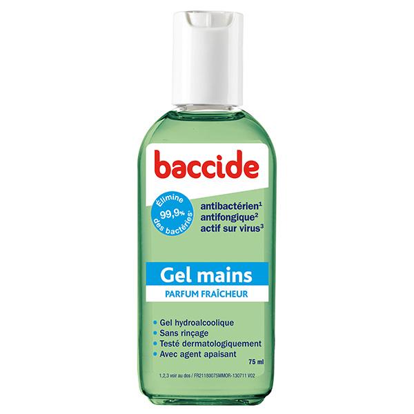 BACCIDE Gel mains antibactérien vert 75ml - Parapharmacie