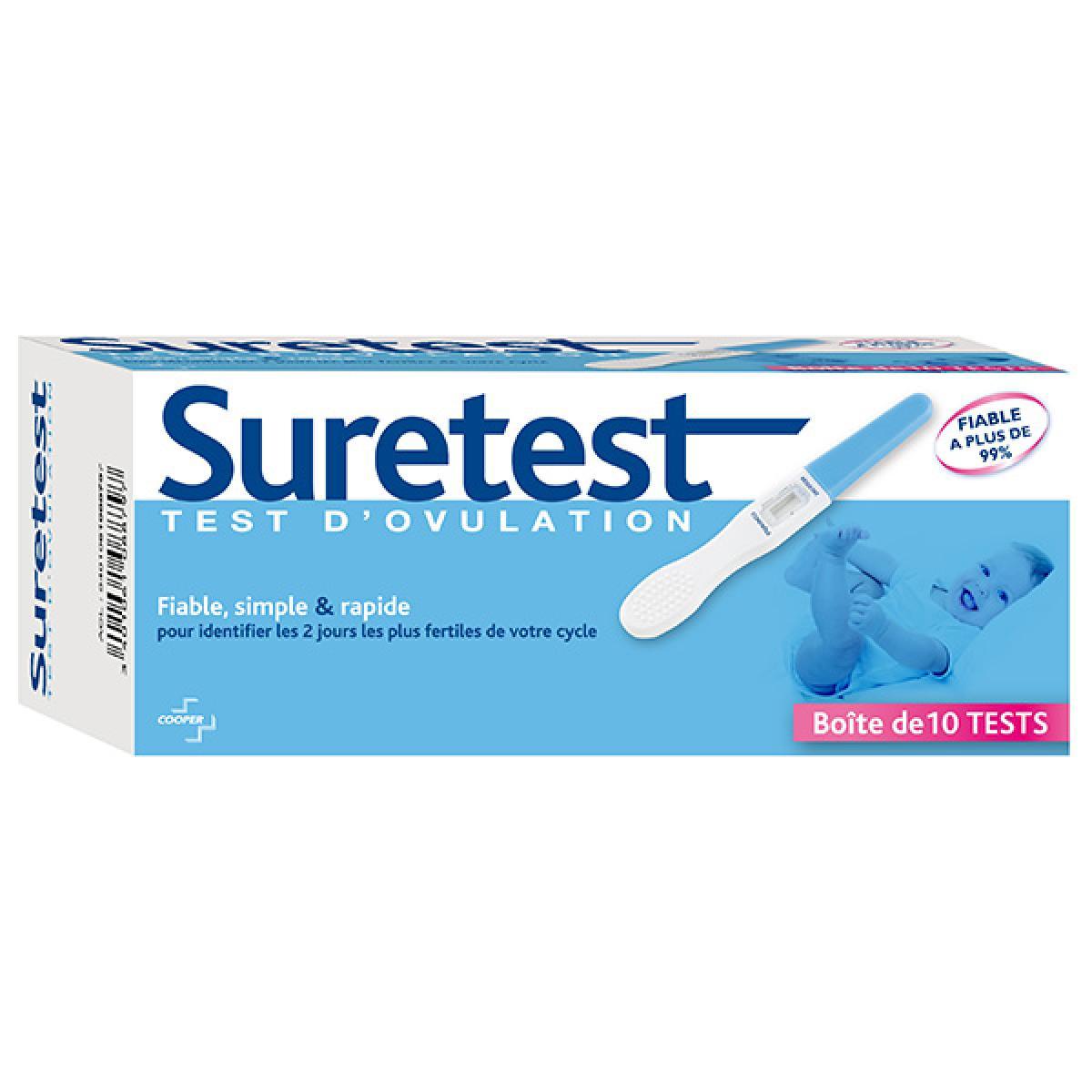 cooper suretest test d 39 ovulation 10 tests parapharmacie. Black Bedroom Furniture Sets. Home Design Ideas