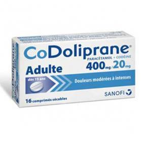 Codoliprane adulte 400mg/20mg 16 comprimés sécables