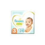PAMPERS 28 couches bébé taille 3 : 6-10 kg premium protection