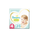 PAMPERS 23 couches bébé taille 4 : 9-14 kg premium protection