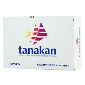 IPSEN Tanakan 40mg 30 comprimés enrobés
