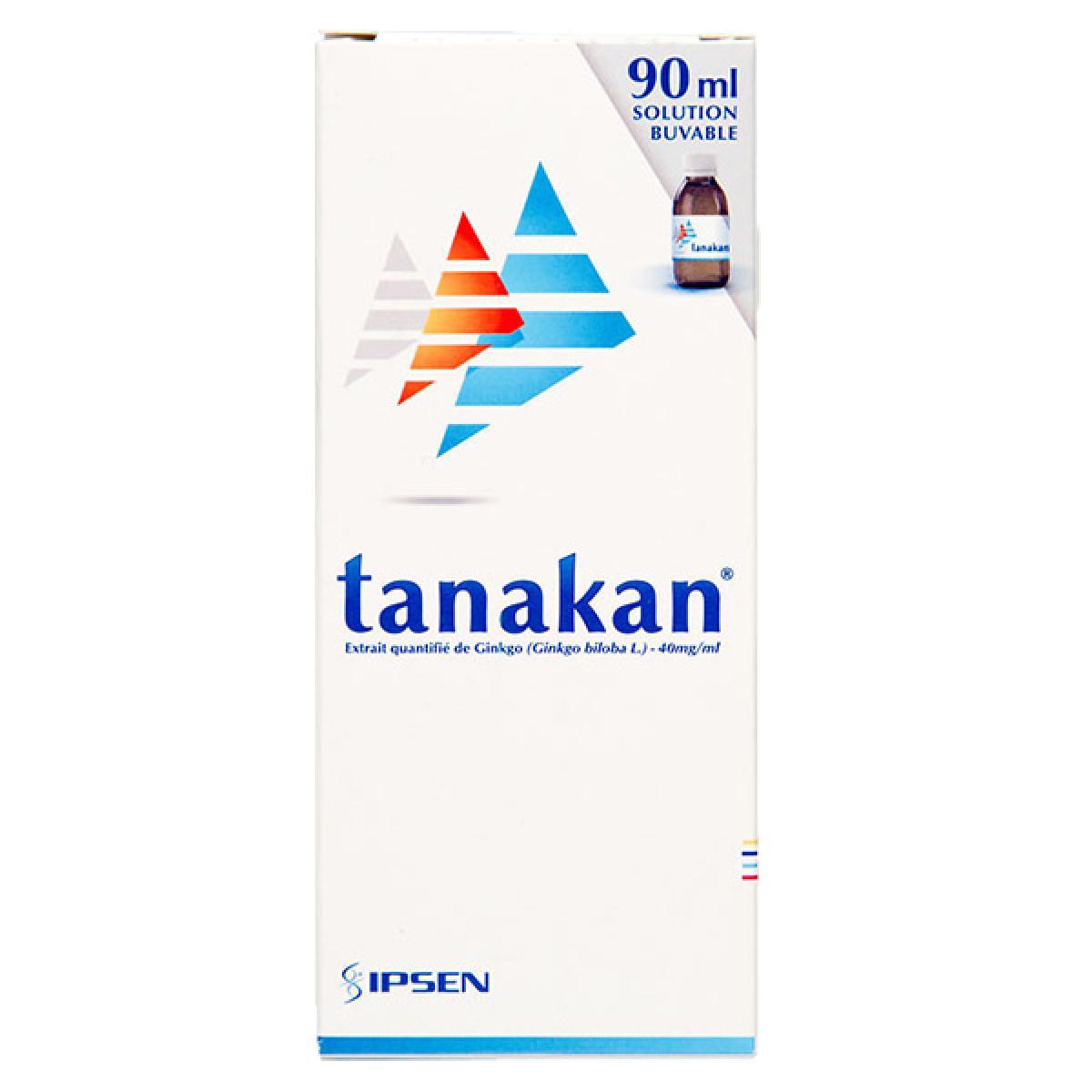 Tanakan 40mg/ml solution buvable 90ml dans Circulation