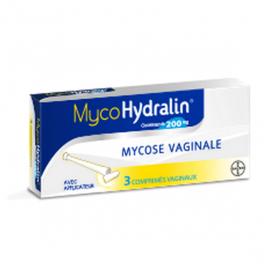 HYDRALIN Mycohydralin 200mg 3 comprimés vaginaux
