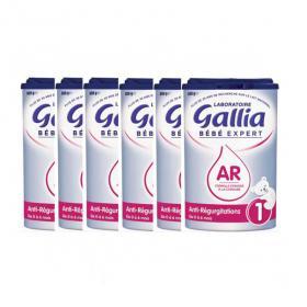 GALLIA Bébé expert anti-regurgitations 1er âge lot x6 800g