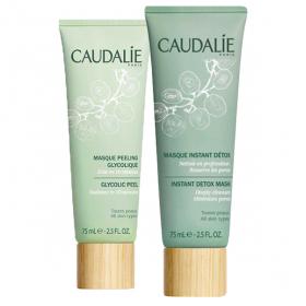 CAUDALIE Duo éclat masque peeling + masque détox 75ml