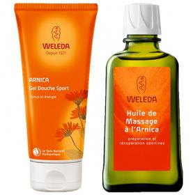 WELEDA Arnica coffret cadeau gel douche + huile massage